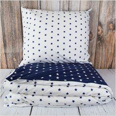"""65 zł Pościel z bawełny """"Blue & White Stars"""" 160x200cm + 2x70x80cm - Pościel bawełniana"""