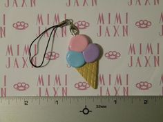 Polymer Clay Triple Ice Cream Scoop Charm by MIMIJAXN on Etsy, $5.00