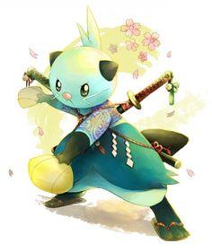 Samurai Pokemon dewott