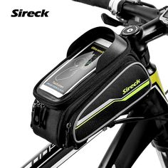 Sireck MTB Bike Bag 6 Touchscreen Bicycle Frame Saddle Bag Cycling Top Tube Bag Phone Case