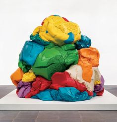 """""""Play-Doh"""" made of polychromed aluminum By Jeff Koons 5 unique versions 1994-2014"""