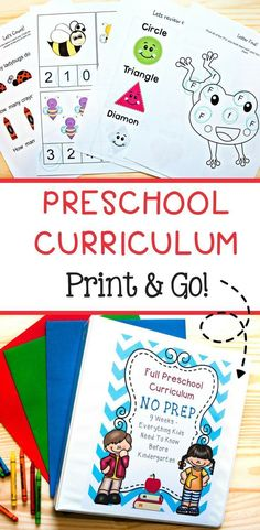 Preschool Curriculum: Everything they need to know before Kindergarten!