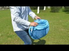 How to fold up a pop up beach tent/beach shelter with steel wire frame