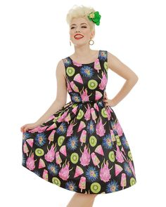 'Annie' Exotic Popsicle Print Swing Dress - Swing Dresses - Shop by Shape - Dresses