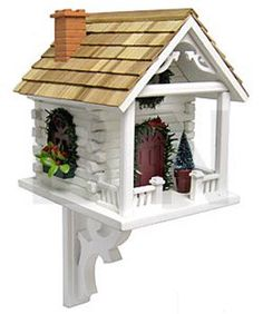 Christmas Cabin Bird House