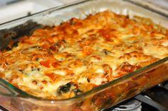Chicken sauage & pasta bake