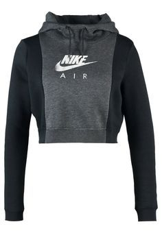 Nike Sportswear RALLY AIR Bluza z kapturem black heather/black/black Cute Comfy Outfits, Casual Work Outfits, Work Casual, Nike Outfits, Sport Outfits, Athletic Outfits, Nike Sportswear, Sports Hoodies, Heather Black