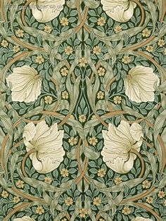 I have always hankered after 'Pimpernel' wallpaper by Morris & Co. This the slate colourway.