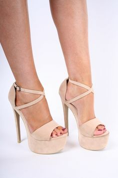 c8afab0c5d5 Annie Nude Strappy Platform Heels – Shoes from Dollywood Boutique UK Adria  Nude Pu Strappy Platform Heels – High Heels … Korkys.