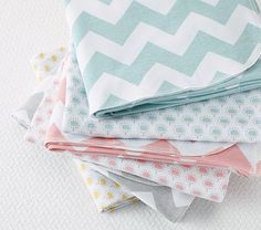 Organic Chevron Swaddling Blankets Set of 2 #PotteryBarnKids (This was too cute not to pin! I want to remember this although having kids is very far in my future! haha)