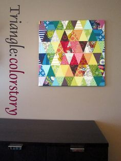 Triangle Colorstory for market by StitchedInColor, via Flickr