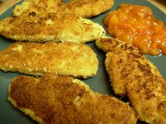 Caveman Food: Coconut chicken fingers - skip the dip if you want to and use what you have on hand! Or slice this chicken up and add it to a salad