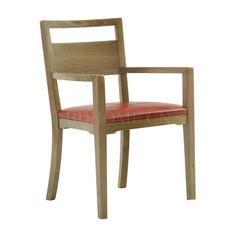 餐椅 榆木实木+真皮软包 210-104215 W559*D559*H864mm