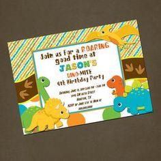 Dinosaurs Birthday Invitations You PRINT Printable