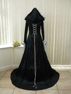 black+wedding+dresses | ... Dresses | Medieval Gothic Renaissance Black and White Wedding Dress