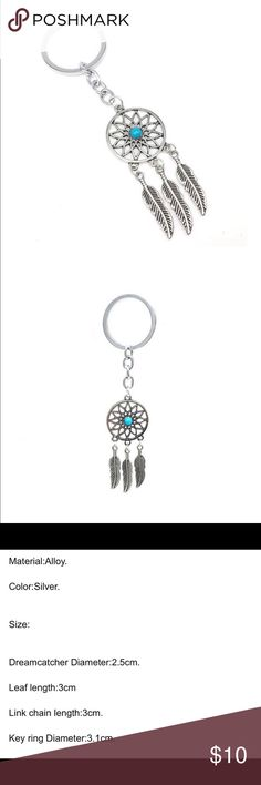 Dream catcher keychain Super cute accessory for the dreamer in all of us. I had to keep one for myself!!  Price firm unless bundled. Accessories Key & Card Holders