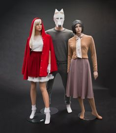 Little Red Riding Hood costumes inspiration display for Halloween by AmericanApparel