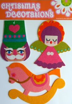 Handmade by alice apple: new christmas decoration packs at a special price!