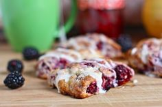 Mini blackberry scones --very easy recipe that is fun to make on a rainy day.  I also love a recipe that tells you to use your hands to combine ingredients :D