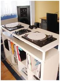 dj desk constructed by ikea parts bosh dj pinterest dj desks and dj booth. Black Bedroom Furniture Sets. Home Design Ideas