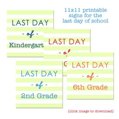 { freebie } Last Day of School Printables