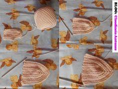 como fazer top em crochet por Claudineia Antunes