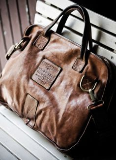 brown leather bag, love it