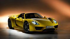 The Porsche 918 Spyder is a Hybrid supercar with a limited production of 918 units that ended in The car is available as a coupe and as roadster. Porsche Cayman Gt4, Porsche 918 Spyder, Porsche Autos, New Porsche, Porsche Cars, Porsche Yellow, Boxster Spyder, Porsche Boxster, Ferdinand Porsche