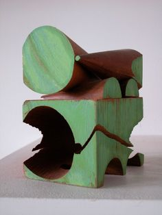"Mel Kendrick, ""Untitled,"" mahogany, japan color, x x Contemporary Sculpture, Contemporary Art, Abstract Sculpture, Sculpture Art, Granada, Sculpture Projects, Steel Sculpture, Assemblage, Land Art"
