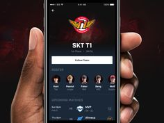 Blitz: Team Page designed by Shawn Park. Connect with them on Dribbble; Mobile Home, Mobile Ui, Skt T1, Upcoming Matches, Team Page, Page Design, Park, Mobile Homes, Parks