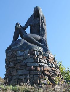 Lorelei statue on the Rhine River - I took my mother to see this on her 2nd day in Germany visiting me.