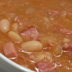 Crockpot White Beans and Ham - a meal to fit the weather this winter.
