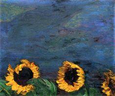 Lone Quixote — Emil Nolde Blue Sky and Sunflowers (via...