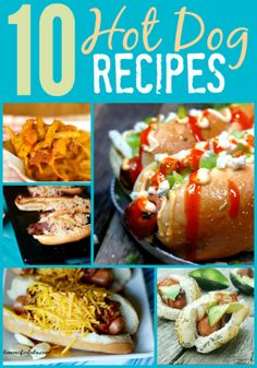 Get creative with dinner with these 10 fun hot dog recipes! Hot Dog Recipes, Meat Recipes, Dinner Recipes, Cooking Recipes, Fun Recipes, Recipe Ideas, Hot Dogs, Weekly Dinner Menu, Good Food