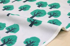 Japanese Fabric Kokka Tomotake Muddy Works Trees от MissMatatabi