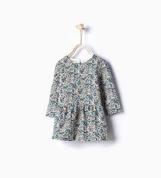 ZARA - ENFANTS - Robe à fleurs en relief