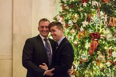First same-sex wedding proposal in the White House. Congratulations to the happy couple!