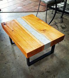 Macrocarpa coffee table / concrete center / NZ made