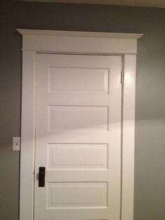 Picking Interior Doors For Your Home Tips From Our Door . Wooden Door 5 Panel Wooden Door Manufacturer From Sakti. Home and Family Farmhouse Interior Doors, Farmhouse Trim, Interior Window Trim, Interior Barn Doors, Exterior Doors, Rustic Exterior, Interior Shutters, Farmhouse Ideas, Farmhouse Style