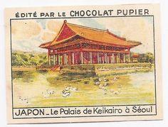 Le Palais de Keikairo à Séoul - Japon Asie - Image Chocolat Pupier (1938/39)