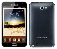 Here you see the immense popular  Samsung Galaxy Note cell phone.