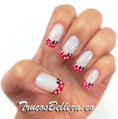 Diseño de uñas inspirado en Mini Mouse - Trucos de Belleza
