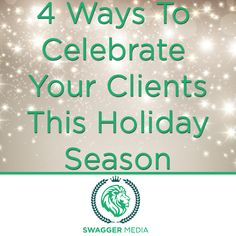 Holiday season is finally here and there is no better way to spread the cheer than with customized holiday Swag! This season, let Swagger take care of all your holiday needs! #Holidays #HolidayMarketing