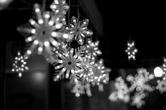 Hang outdoor snowflake lights for Christmas and then you can leave them up through winter. Christmas Tumblr, Noel Christmas, Little Christmas, All Things Christmas, Winter Christmas, Christmas Pictures, Christmas Quotes, Christmas Fb Cover Photos, Winter Snow