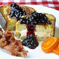 Honey and Cream Cheese Stuffed French Toast with Blueberry Sauce - Rock Recipes -The Best Food & Photos from my St. John's, Newfoundland Kitchen.