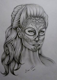 Sugar Skull Lady Drawing | Sugar Skull by ~Taigeri on deviantART