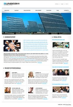 Sunbeam Solaris Website Templates by Di
