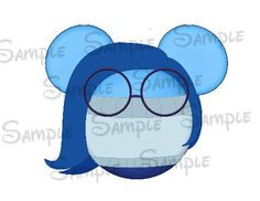 Inside Out Sadness DIGITAL Mouse head image by SwirlyColorPixels