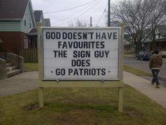 Sign in Hamilton, Ontario in Canada... LOL. #Patriots