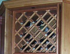 1000 images about window herb garden wine rack on for Diy wine lattice